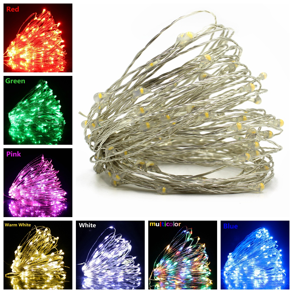 1/2/5/10/20M Fairy Lights Copper Wire LED String Lights Holiday Lighting For Christmas Tree Garland Wedding Party Decoration