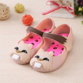Memon new Style Squirrel little Girls Sandals baby shoes PVC Shoes SOFT LEATHER  red black pink 4 color Size 6-11