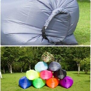 Image 3 - Light Sleeping Bag Waterproof Inflatable Bag Lazy Sofa Camping Sleeping Bags Air Bed Adult Beach Lounge Chair Folding CE2075/10