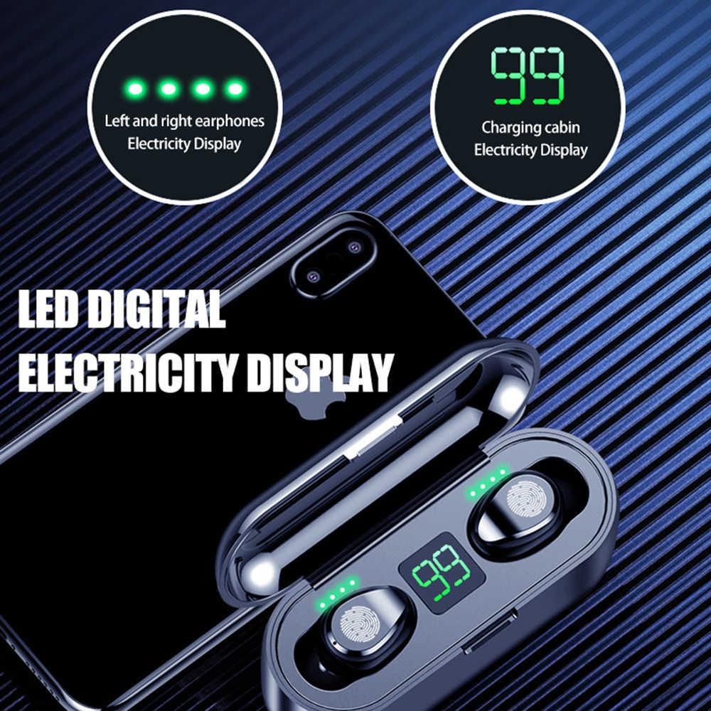 Светодиодный дисплей Bluetooth 5,0 наушники IPX7 водонепроницаемые 8D Bluetooth стерео наушники TWS Беспроводные Bluetooth 5,0 наушники для всех телефонов