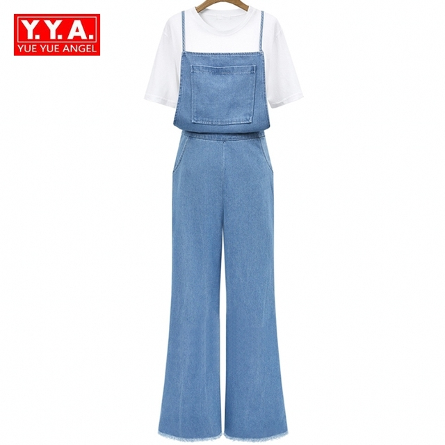 592715bd138 New European Fashion Brands Harm Jumpsuit Female Denim Bodysuit Rompers  High Waist Flare Jeans Jumpsuit Plus