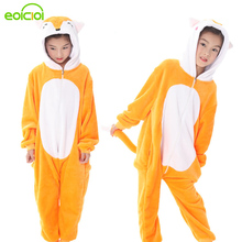 21 NEW kids stars fox unicorn pajamas children hooded cartoon sleepwear winter boys girls pijamas cosplay Christmas homewear