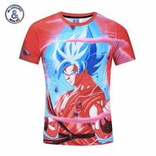 Hot Red Dragon Ball Z T Shirt 3D Anime Tee Shirt Men Super Saiyan Vegeta t shirts Harajuku Summer Top Tees Anime & Manga Clothes