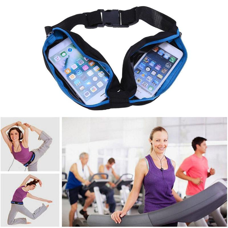 Waterproof Outdoor Sports Bag Running Jogging Waist Bags Pocket Phone Money Anti-theft Pack Belt Cycling Pouch Sport Accessories