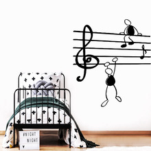 Exquisite misic Wall Sticker Pvc Stickers Art Paper For Living Room Kids Baby Decoration naklejki