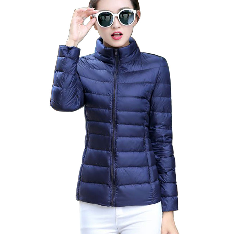 Women Ultra Light Down Jacket Hooded 90% Winter White Duck Down Jackets Women Parka Zipper Coats Warm New Women Thin Down Jacket