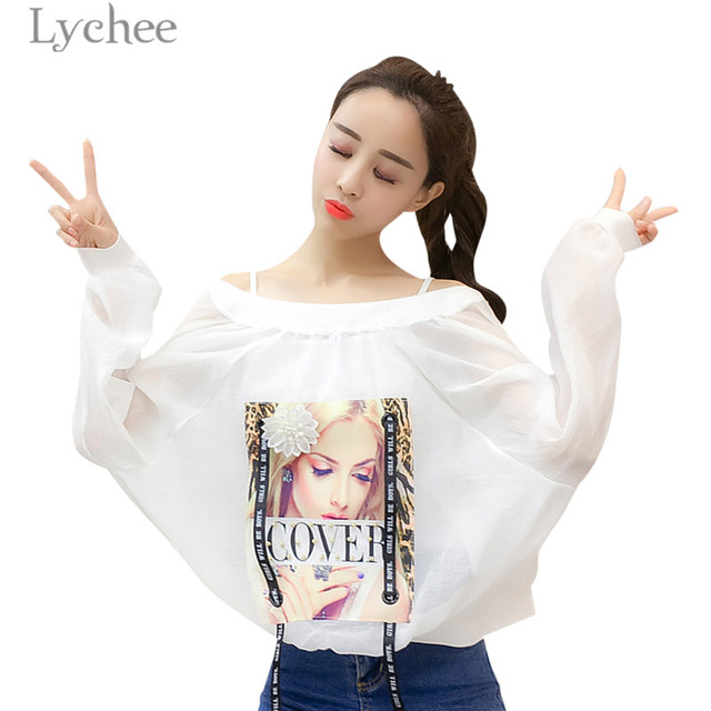 Lychee Spring Autumn Ribbons Women Jacket Character Letter Back Print Long Sleeve Sunscreen Water Proof Windbreaker Coat