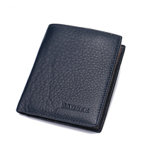 New Famous Designer Genuine Leather Superior Men Wallet Business Style Vertical Shape Litchi Grain Men S