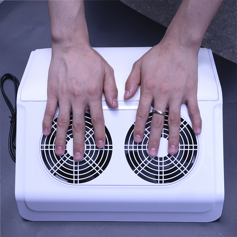 50W Powerful Nail Dust Collector Manicure Machine Vacuum Cleaner With 2 Fans UV Gel Nail Polish