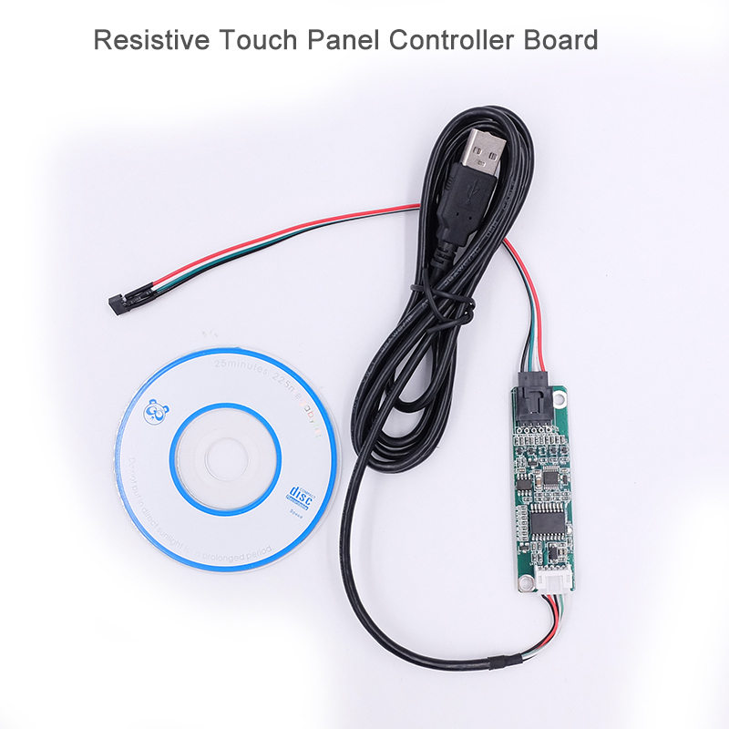 5-15 Inch 4 Wire 4-Wire Resistive Touch Screen Panel USB Port Driver Controller Board DIY For Raspberry PI3 LCD Display Panel carprie car light 5pcs 10pcs t10 wedge 5 smd 5050 xenon led light bulbs 168 194 w5w 2825 158 fog white yellow light lamp bulb