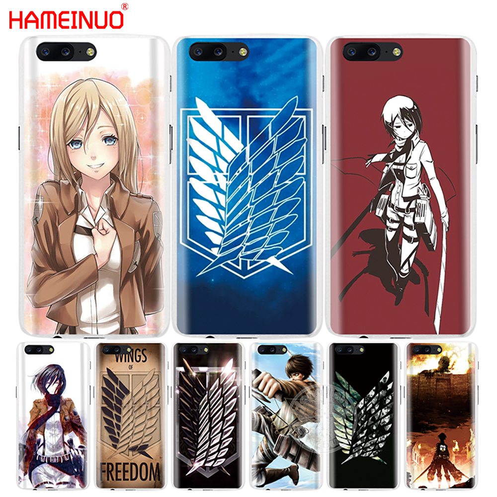 HAMEINUO Attack On Titan logo japanese anime cover phone case for Oneplus one plus 5T 5 3 3t 2 X A3000 A5000