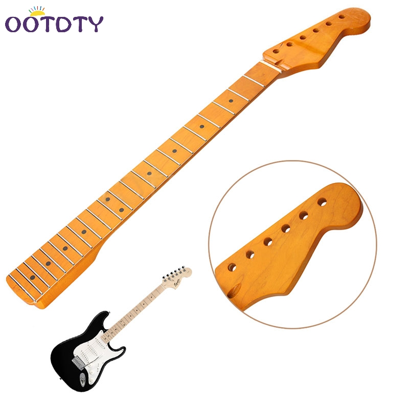 Electric Guitar Neck 22 Fret Maple Wood For ST Parts Replacement Smooth Surface electric guitar neck 22 fret maple wood for st parts replacement smooth surface k105c