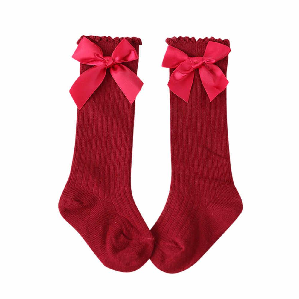 New Kids Socks Toddlers Girls Big Bow Knee High Long Soft Cotton Lace baby Socks Kids kniekousen meisje Dropshipping #7