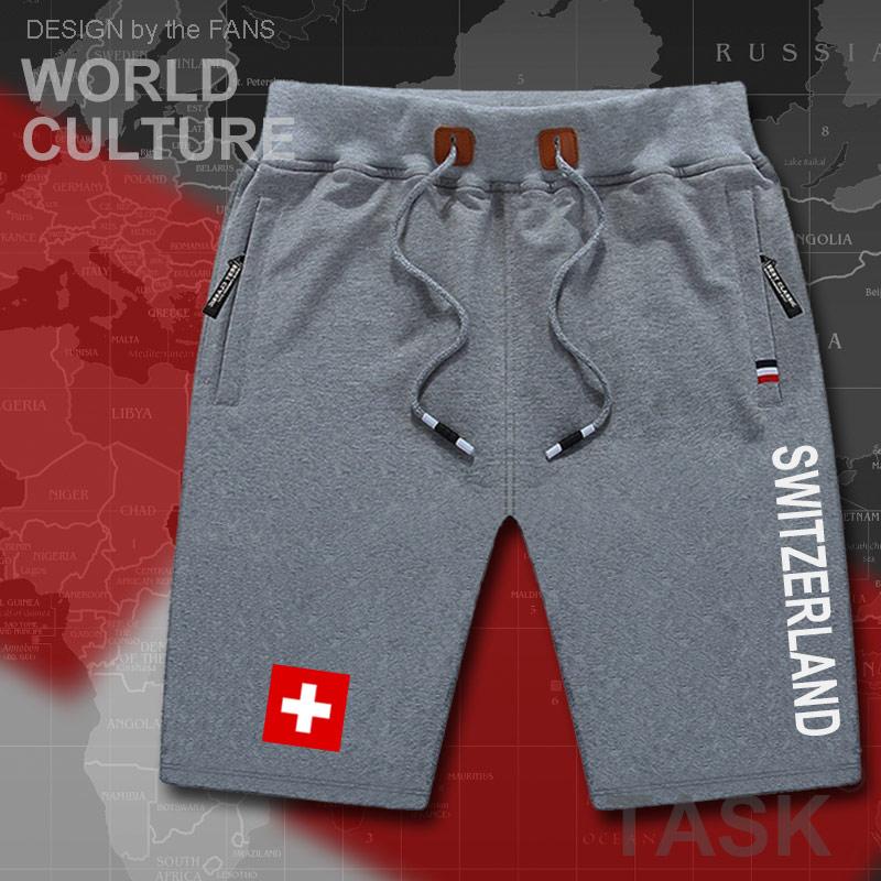 Swiss Confederation Switzerlandmens Shorts Beach New Men's Board Shorts Flag Workout Zipper 2017 CHE CH Confoederatio Helvetica