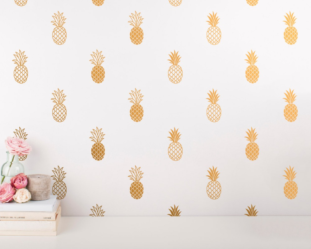 24pcs Pineapple Wall Decal Large Pineapples Wall Sticker