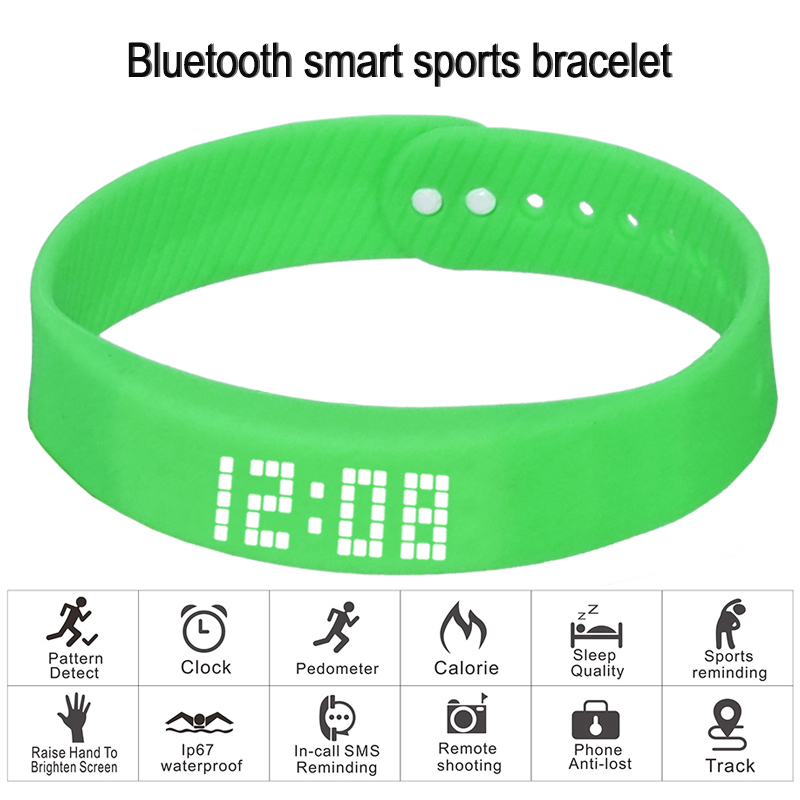 Image 3 - smart wristband 3D fitness tracker Bluetooth bracelet waterproof led display watch for huawei xiaomi Android IOS 2019 newversion-in Smart Wristbands from Consumer Electronics