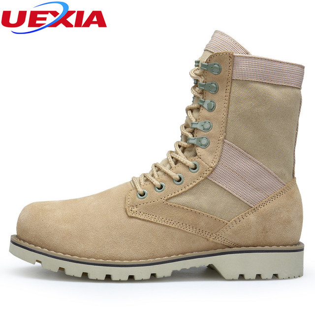 Unisex Chelsea Ankle Boots Men Hemp Leather Working Combat Hunting Military Boots Suede Stitching Canvas Lovers Shoes Size 35-45