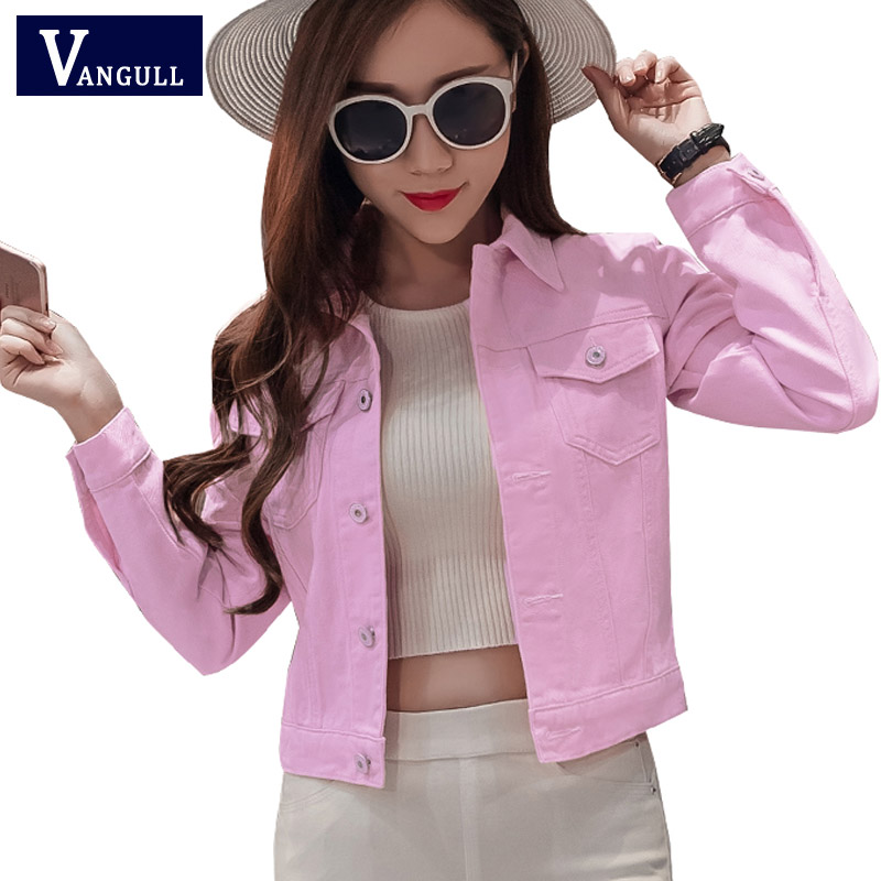Denim Jacket Women Short Jeans Overcoat Ladies Jackets Tops Turn Down Collar Slim White Black Jeans Top For Women High Quality