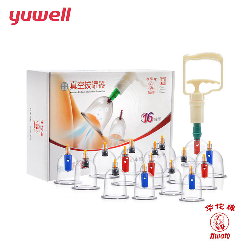 Vacuum Cupping Massge Set 8 Magnetic Acupuncture Needles 16 Clear Vacuum Suction Cups with Pump Chinese Medical Therapy 12pcs cups 6pcs magnetic needle extension tube pump chinese modern vacuum healthy cupping set massage therapy suction apparatus