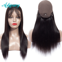 Ashimary Straight Lace Front Wig Peruvian Wigs Remy Hair Human Hair Wigs for Black Women Natural Hairline 4x4 Lace Wigs