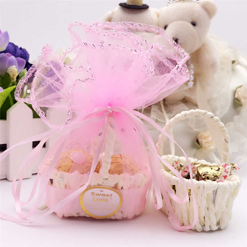 20 шт./пакет необычная коробка плетеная корзинка для конфет прекрасный картонные подарочные коробки украшение для свадьбы подарок сумки & Упаковка Поставки