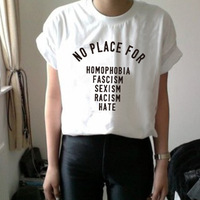 Корейский стиль, летняя женская футболка, оптовая продажа, повседневная женская футболка, без места, с буквенным принтом, свободные женские