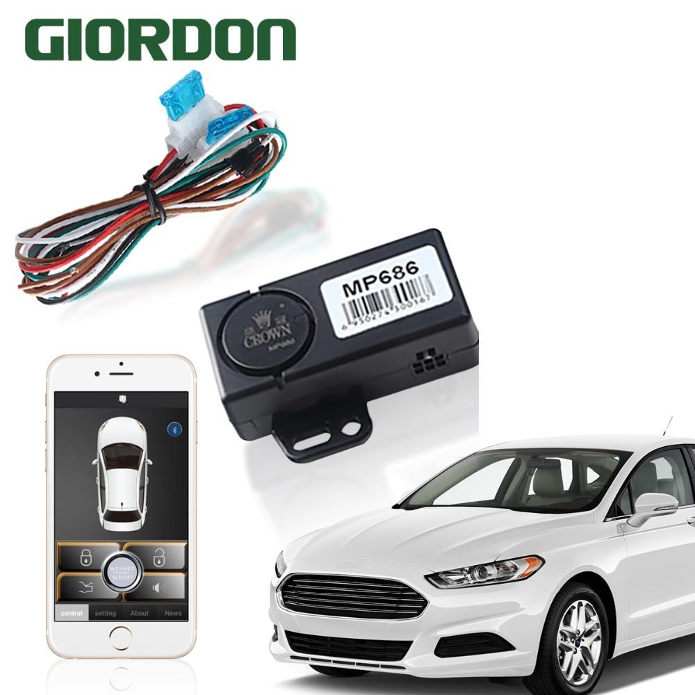 Controle keyless da entrada de pke o carro pelo telefone móvel com começo remoto e controle de bluetooth perto do bloqueio/deixe o bloqueio
