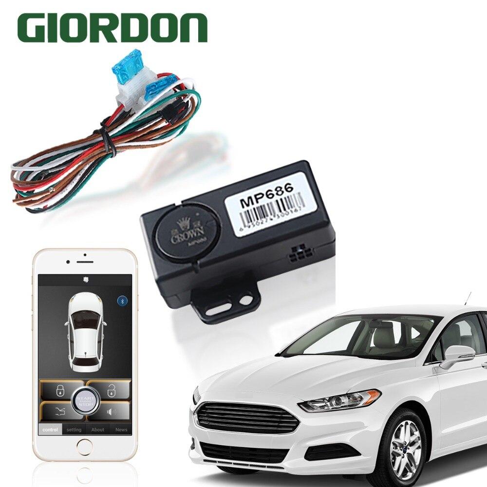 PKE Control de entrada sin llave el coche por teléfono móvil con arranque remoto y control bluetooth cerca de la cerradura/dejar la cerradura