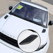 Moteur capot de débit d'air d'admission vent fender grille racing autocollant couverture pour range rover evoque découverte sport styling Accessoires