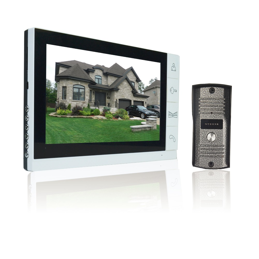 9 Inch Colored TFT-LCD Monitor Video Doorphone Intercom System For House Private Home Call Panel Door Entry Panel Intercoms