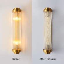 Postmodern Minimalist Creative Living Room Glass Wall Lamp Light Luxury Background Aisle Stairs Bedroom Nordic