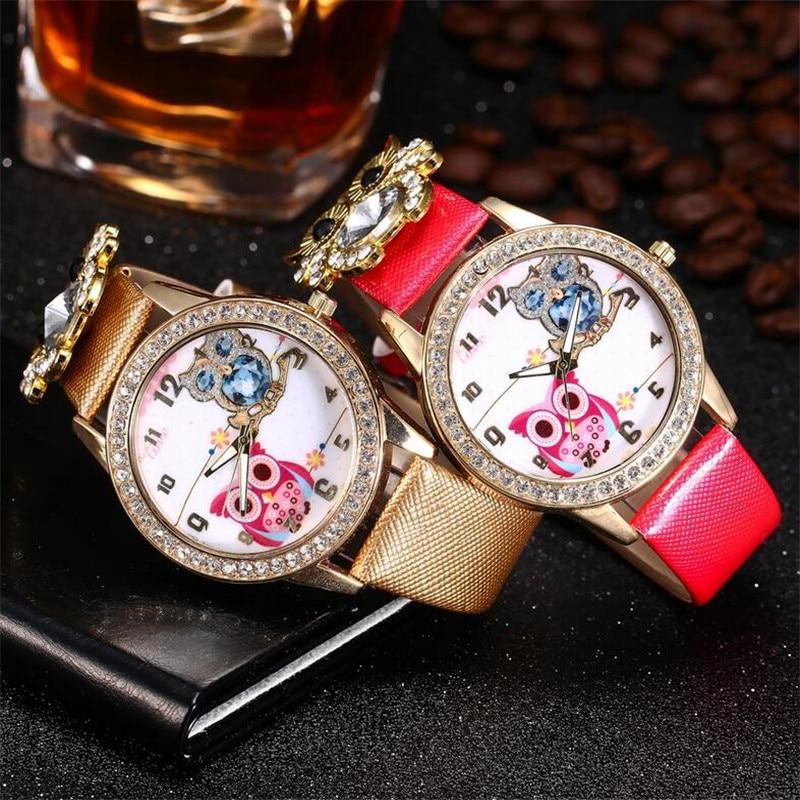 New Women's Watch Classic Owl Pattern Strap Owl Wrap Bracelet Watch 1