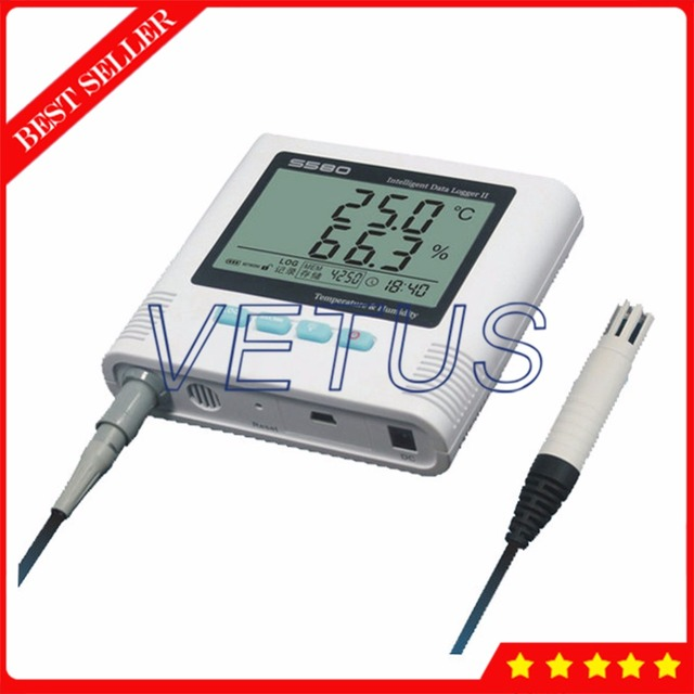 S580-EX Digital USB Datalogger Temperature Humidity Data Logger with Thermometer Hygrometer Meter Storage 8,6000 Point Recorder