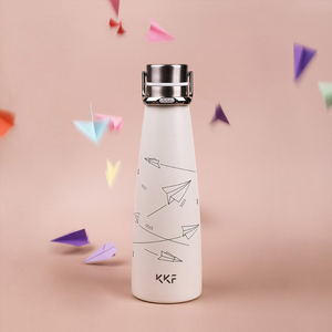 Image 5 - Youpin KKF בקבוק ואקום נייד תרמוס כוס נסיעות ספל 304 נירוסטה עם אבץ סגסוגת כף יד טבעת 3 דפוסים