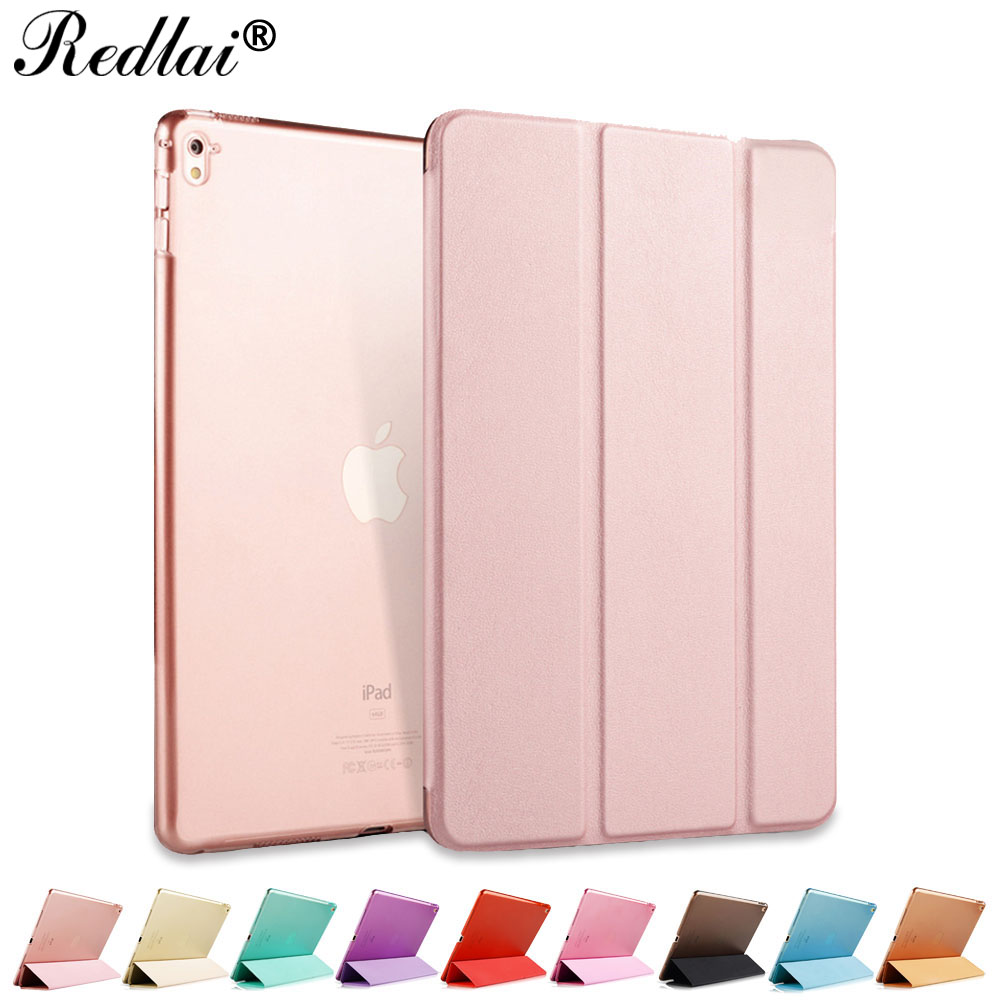 Redlai Leather Case For iPad Pro 9.7 inch 2016 Ultra Thin Slim Flip Smart Cover Case with Auto Sleep/ Wake For iPad Pro 9.7