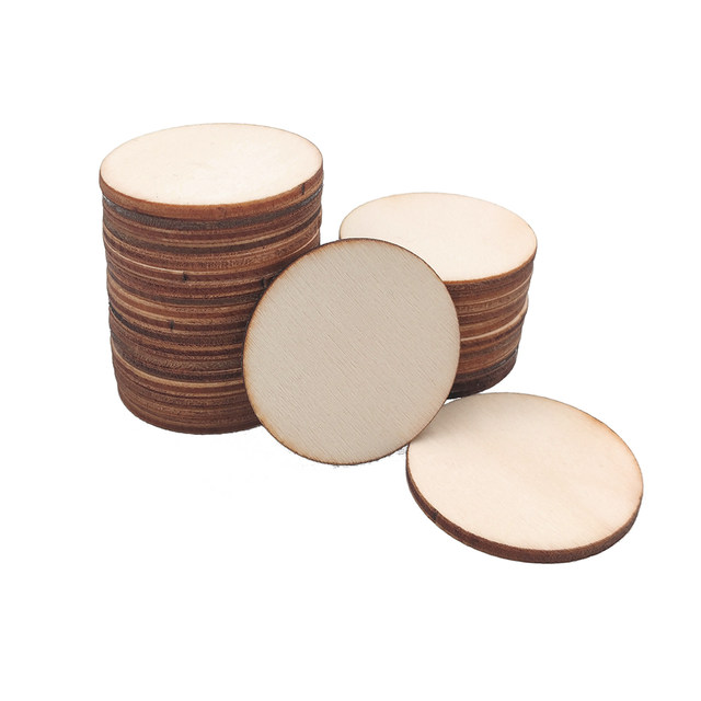 Painting 10 Pieces Unfinished 8 Inch Wood Circle Cutouts for Wooden Coasters Dishes Mat DIY Crafts and Home Decoration Carving
