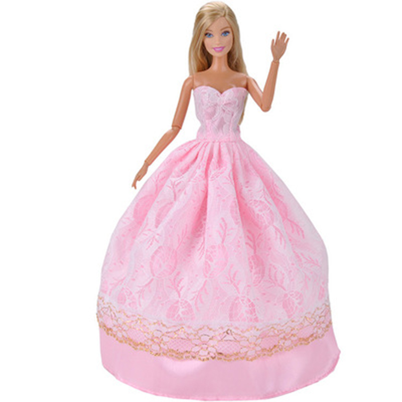Formal Dress Dolls Clothes Accessories For Doll Fashion Wedding Long Skirt Clothes For Doll Toys For Girls Gift