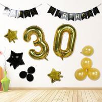 Anzahl 30 Geburtstag Luftballons Banner Decor Set Folienballons für Party Layout Geburtstag Party Feier Lieferungen