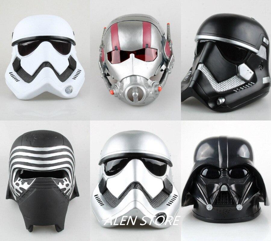 ALEN Star Wars Marvel Film Cosplay Casque Darth Vader Storm Trooper Ant Homme Dirige Kylo Ren Action Figure Jouets 1:1 Modèle