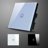 EU UK Standard Glass Panel Wireless Doorbell Touch Switch Touch Screen Doorbell Switch Waterproof Glass Panel