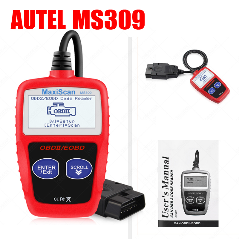MaxiScan MS309 Auto Car Scanner OBDII/EOBD OBD2 Universal Auto Code Reader Work For US&Asian&European Car Scanner PK KW808