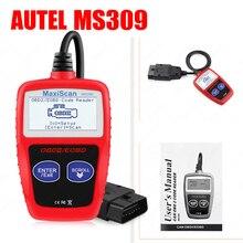 MaxiScan MS309 Автомобильный сканер OBDII/EOBD OBD2 Универсальный автоматический считыватель кодов работает для США и Азии и Европы Автомобильный сканер PK KW808