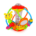 New Arrival Baby Ball Rattles Toy with Cute Cartoon Animal Shape and Fun Trackball Educational Toys