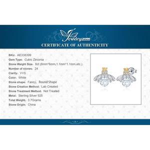 Image 5 - Jewelrypalace Crown Bee Zirconia Stud Oorbellen 925 Sterling Zilveren Oorbellen Voor Vrouwen Koreaanse Oorbellen Fashion Sieraden 2020