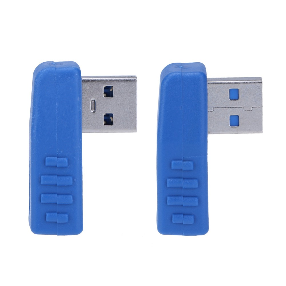 90 Degree USB 3.0 Male To Female Adapter L Shaped Left Right USB3.0 M/F Data Transfer Converter Wire Extender Connector