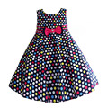 New Fashion Girls Summer Dress Heart Dot Pattern Cotton Kids Dresses for Girls Wedding Party Size 6-10 Years vestidos infanti