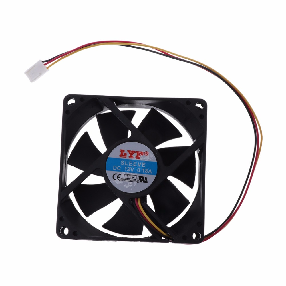 3 pin 80mm x 25mm CPU PC Fan Cooler Heatsink Exhaust 2200rpm cpu quiet fan cooler cooling heatsink for intel lga775 1155 amd am2 3 l059 new hot