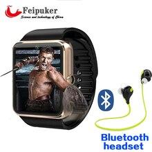 Reloj inteligente Reloj Con Ranura Para Tarjeta Sim Empuje Mensaje Conectividad Bluetooth Android Teléfono música Mejor PK KW18 Smartwatch DZ09