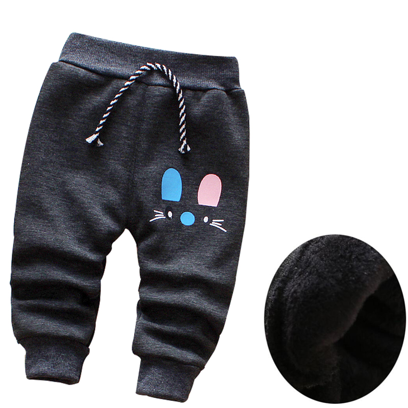2019 Autumn & Winter New Baby Pants Cute Cartoon Plus Velvet Warm Children Boys Girs Pants 0- 3 Year