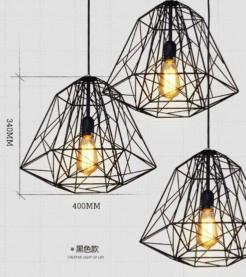 ФОТО Iron Diamond industrial creative instrument pendant lamp lampara vintage restaurant lights bar foyer pendant lamps